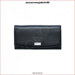 Avenue - XX-25/0134-011 Rekeszes irattárca, fekete bőr