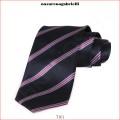 Nyakkendők - AG.UXC1B701000 Csoportcsíkos kék/világoskék selyemnyakkendő